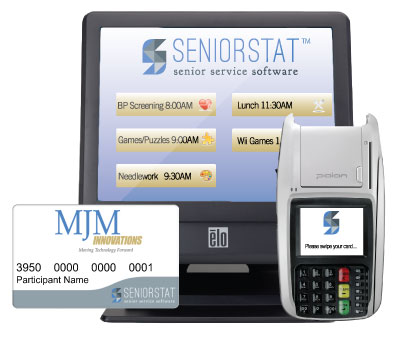 Senior center services software solution